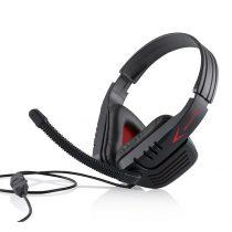 Modecom MC-823 Ranger Gamer fekete/piros mikrofonos Fejhallgató/Headset (2 év garancia)