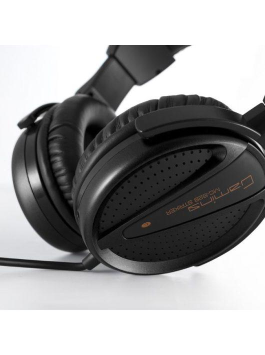 Modecom MC-828 Striker fekete mikrofonos Fejhallgató/Headset (2 év garancia)