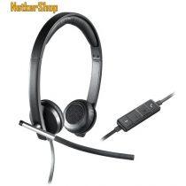 Logitech H650E fekete USB mikrofonos Fejhallgató/Headset (2 év garancia)