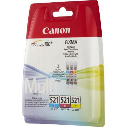 Canon CLI-521 MultiPack C,M,Y (2934B010) eredeti tintapatron (1 év garancia)