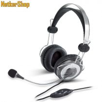 Genius HS-04SU ezüst mikrofonos Fejhallgató/Headset (1 év garancia)
