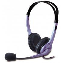 Genius HS-04S fekete/lila mikrofonos Fejhallgató/Headset (1 év garancia)