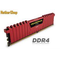 Corsair 8GB DDR4 2666MHz CMK8GX4M1A2666C16R Vengeance LPX XMP2.0 Red Memória (3 év garancia)