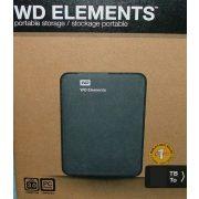 Western Digital Elements WDBU6Y0020BBK 2TB fekete USB3.0 külső Winchester, HDD, Merevlemez (2 év garancia)