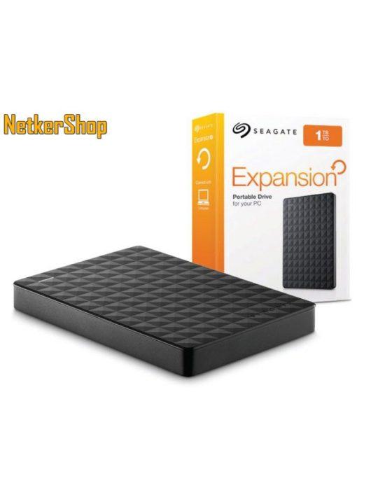 "Seagate STEA1000400 1TB 2,5"" Expansion USB3.0 fekete külső Merevlemez, HDD, Winchester  (2 év garancia)"