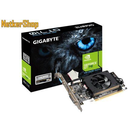 GIGABYTE Nvidia Geforce GT710 GV-N710D3-2GL 2GB DDR3 PCI Express LP Videokártya (3 év garancia)