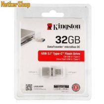 Kingston 32GB DT microDuo 3C USB3.1/USB Type-C ezüst Pendrive (5 év garancia)