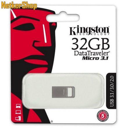 Kingston 32GB DT micro 3.1 USB3.1 ezüst Pendrive (5 év garancia)