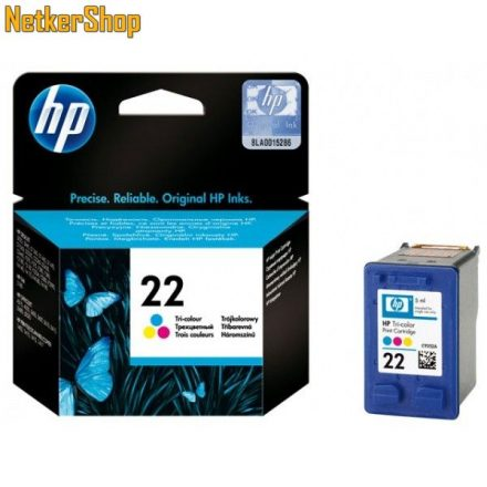 HP C9352AE (22) szines eredeti tintapatron (1 év garancia)