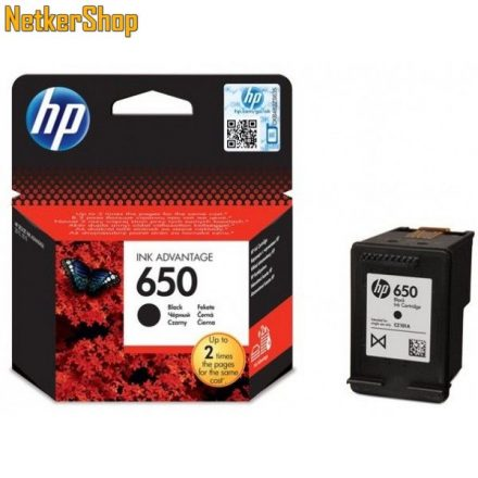 HP CZ101AE (650) fekete eredeti tintapatron (1 év garancia)