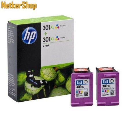 HP D8J46AE (301XL) Duopack szines eredeti tintapatron (1 év garancia)