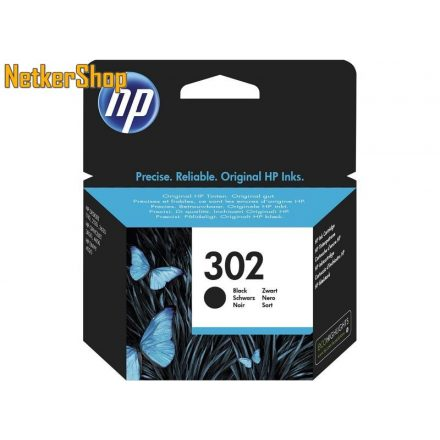 HP F6U66AE (302) fekete eredeti tintapatron (1 év garancia)