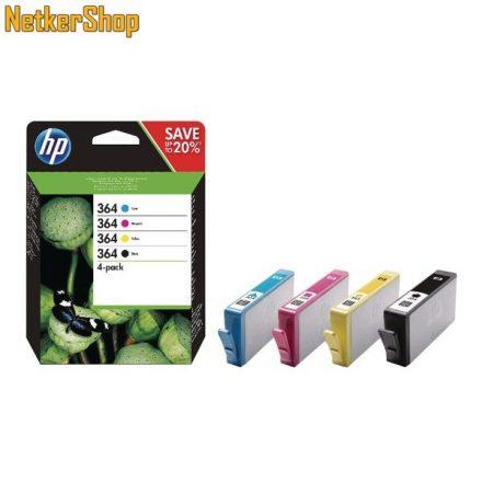 HP N9J73AE (364) fekete + szines eredeti tintapatron (1 év garancia)
