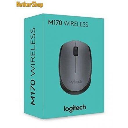 Logitech M170 vezeték nélküli optikai szürke USB Egér (2 év garancia)