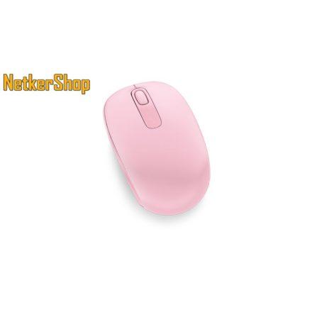 Microsoft Wireless Mobil Mouse 1850 vezeték nélküli optikai pink USB Egér (1 év garancia)