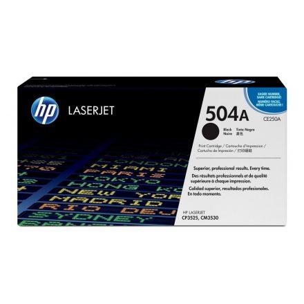 HP CE250A (504A) fekete eredeti toner (1 év garancia)