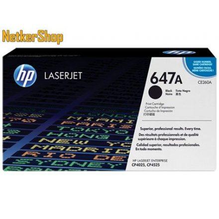 HP CE260A (647A) fekete eredeti toner (1 év garancia)