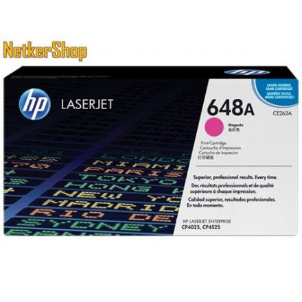 HP CE263A (648A) Magenta eredeti toner (1 év garancia)
