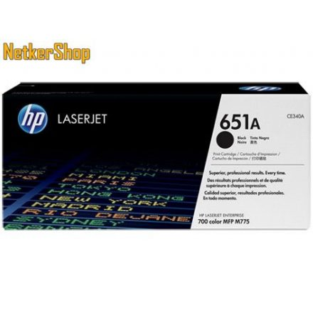 HP CE340A (651A) fekete eredeti toner (1 év garancia)