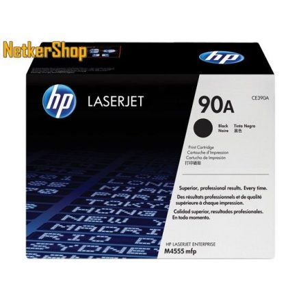 HP CE390A (90A) fekete eredeti toner (1 év garancia)