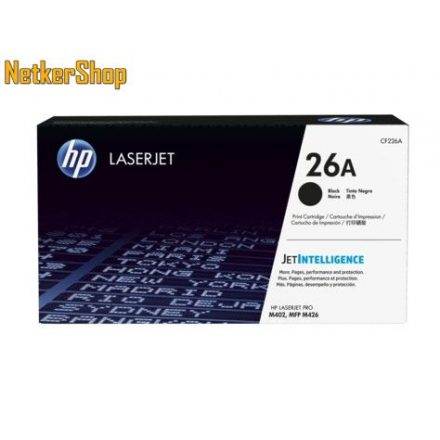HP CF226A (26A) fekete eredeti toner (1 év garancia)