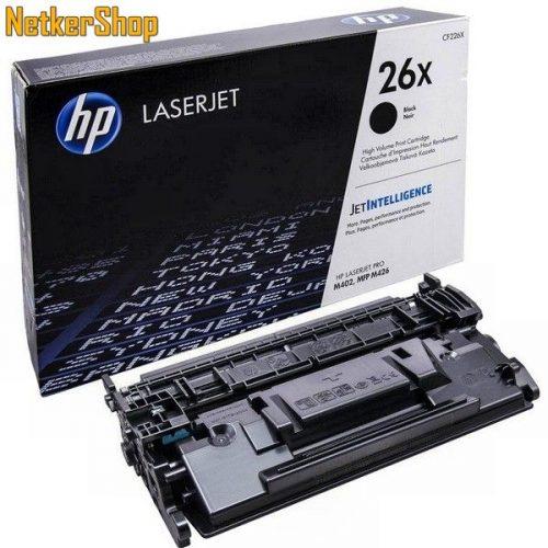 HP CF226X (26X) fekete eredeti toner (1 év garancia)