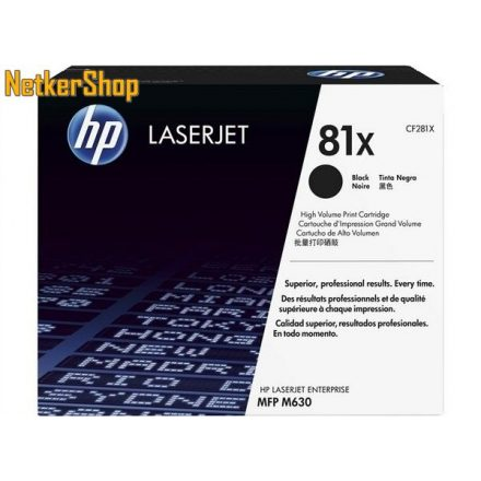 HP CF281X (81X) fekete eredeti toner (1 év garancia)