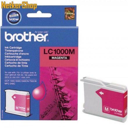 Brother LC-1000M Magenta eredeti tintapatron (1 év garancia)