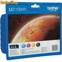 Brother LC1100HYVALBP XL Multipack (C,M,Y,BK) eredeti tintapatron (1 év garancia)
