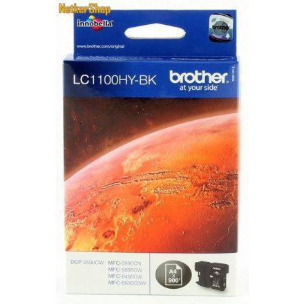 Brother LC-1100HY-BK fekete eredeti tintapatron (1 év garancia)