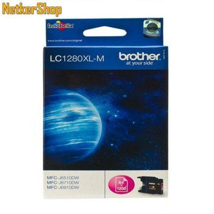 Brother LC-1280XLM Magenta eredeti tintapatron (1 év garancia)