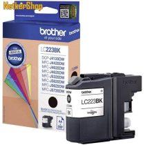 Brother LC-223BK fekete eredeti tintapatron (1 év garancia)