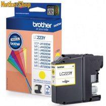 Brother LC-223Y sárga eredeti tintapatron (1 év garancia)