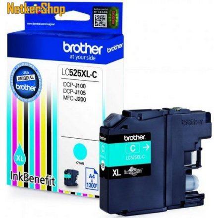 Brother LC-525XL-C Cyan eredeti tintapatron (1 év garancia)