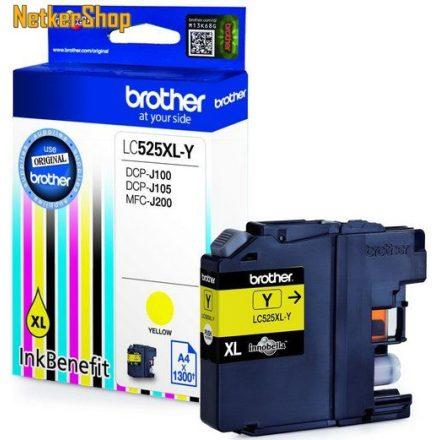 Brother LC-525XL-Y sárga eredeti tintapatron (1 év garancia)