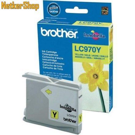 Brother LC-970Y sárga eredeti tintapatron (1 év garancia)