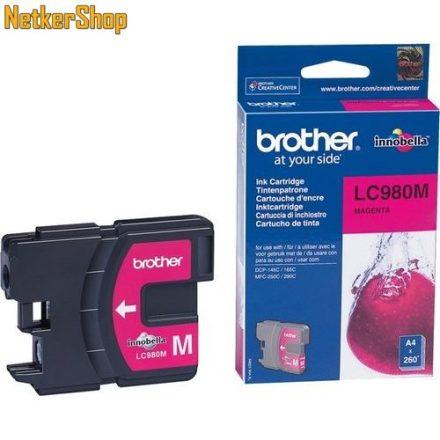 Brother LC-980M Magenta eredeti tintapatron (1 év garancia)