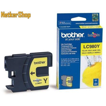 Brother LC-980Y sárga eredeti tintapatron (1 év garancia)