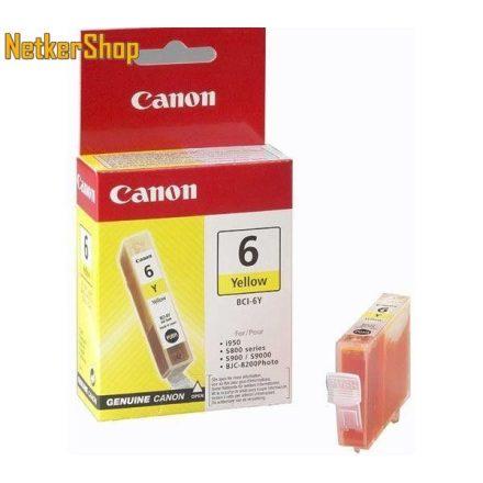 Canon BCI-6Y sárga (4708A002) eredeti tintapatron (1 év garancia)