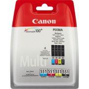 Canon CLI-551 Multipack (C,M,Y,BK) eredeti tintapatron (1 év garancia)