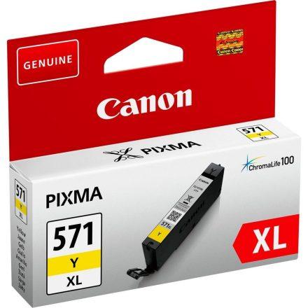 Canon CLI-571XL sárga (0334C001) eredeti tintapatron (1 év garancia)