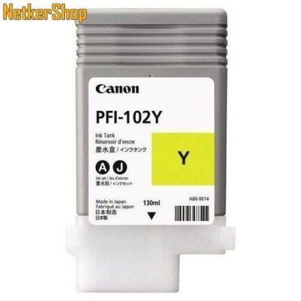 Canon PFI-102Y sárga (CF0898B001AA) eredeti tintapatron (1 év garancia)