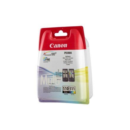 Canon PG-510/CL-511 Multipack fekete+színes (2970B010) eredeti tintapatron (1 év garancia)
