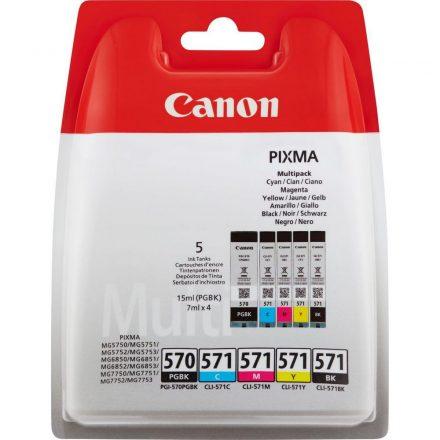 Canon PGI-570/CLI-571 Multipack PGBK,C,M,Y,BK (0372C004) eredeti tintapatron (1 év garancia)