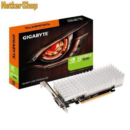 GIGABYTE Nvidia Geforce GT1030 GV-N1030SL-2GL 2GB DDR5 PCI Express LP Videokártya (3 év garancia)