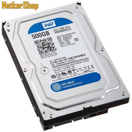 WESTERN DIGITAL WD5000AZLX 500GB 32MB SATA3 7200rpm Blue Merevlemez, Winchester, HDD (2 év garancia)