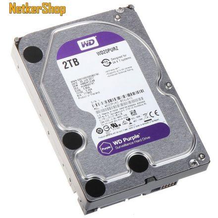 WESTERN DIGITAL WD20PURZ 2TB 64MB SATA3 5400rpm Purple Merevlemez, Winchester, HDD (3 év garancia)