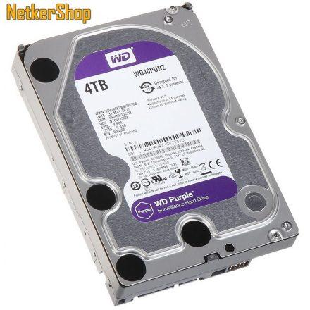 WESTERN DIGITAL WD40PURZ 4TB 64MB SATA3 5400rpm Purple Merevlemez, Winchester, HDD (3 év garancia)