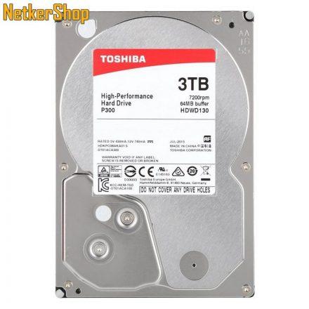 Toshiba HDWD130UZSVA 3TB 64MB 7200rpm P300 SATA3 Merevlemez, Winchester, HDD (2 év garancia)