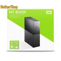 "WESTERN DIGITAL WDBBGB0080HBK My Book 8TB 3,5"" USB 3.0 fekete külső Merevlemez, HDD, Winchester (2 év garancia)"